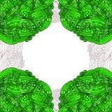 Abstracte achtergrond. Krabbel groen kader. royalty-vrije illustratie