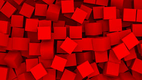 Abstracte achtergrond - kubussen in chaos Royalty-vrije Stock Afbeeldingen