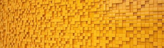 Abstracte achtergrond - kubussen - sinaasappel Stock Foto