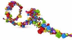 Abstracte achtergrond met 3d kubussen Stock Afbeeldingen