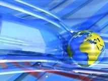 Abstracte achtergrond met aarde stock illustratie