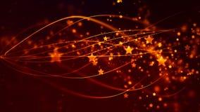 Abstracte Achtergrond met aardige gouden vliegende sterren Royalty-vrije Stock Foto's