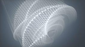 Abstracte achtergrond met animatie van het golven en het trillen netwerkoppervlakte het 3d teruggeven stock illustratie