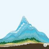 Abstracte achtergrond met berg mozaïek Stock Afbeelding