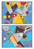 Abstracte achtergrond met beweging veroorzakende overzees royalty-vrije illustratie