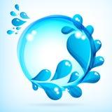 Abstracte achtergrond met blauwe daling. Royalty-vrije Stock Afbeelding