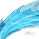 Abstracte achtergrond met blauwe gebogen strepen Stock Fotografie