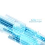 Abstracte achtergrond met blauwe strepen Royalty-vrije Stock Afbeelding