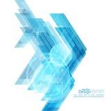 Abstracte achtergrond met blauwe strepen Stock Foto's
