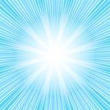 Abstracte achtergrond met blauwe zonnestraal (vector) Royalty-vrije Stock Foto's