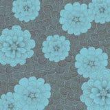 Abstracte achtergrond met bloemen Royalty-vrije Stock Afbeelding