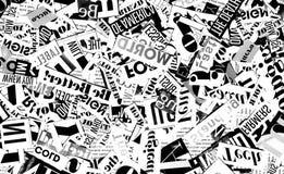 Abstracte achtergrond met brieven stock foto