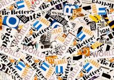Abstracte achtergrond met brieven stock afbeelding