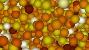 Abstracte achtergrond met bruine ballen vector illustratie