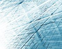Abstracte achtergrond met cijfers van doorzichtige vierkanten 3D Illustratie Stock Foto's