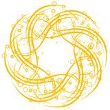 Abstracte achtergrond met cirkels en rollen, vectorillustratio royalty-vrije illustratie