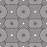 Abstracte achtergrond met cirkels en vierkanten Stock Afbeelding