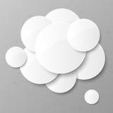 Abstracte achtergrond met cirkels. Royalty-vrije Stock Foto's