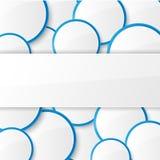 Abstracte achtergrond met cirkels. Stock Afbeeldingen