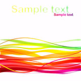 Abstracte achtergrond met colorfulllijnen Royalty-vrije Stock Foto