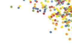 Abstracte achtergrond met confettien met exemplaarruimte stock fotografie