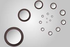 Abstracte achtergrond met 3D cirkels in spiraal of draai Royalty-vrije Stock Afbeeldingen