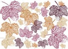 Abstracte achtergrond met de herfstbladeren vector illustratie
