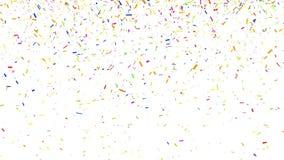 Abstracte achtergrond met de Simulatiegoud van Confettiendeeltjes op Witte Achtergrond