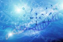 Abstracte achtergrond met de structuur van moleculedna wetenschappelijke medische formules, concept fout, instabiliteit van hemic royalty-vrije illustratie