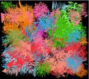 Abstracte achtergrond met de toepassing van alle kleuren van de regenboog stock illustratie