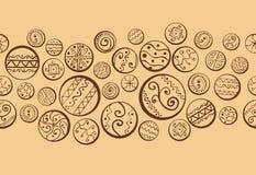 Abstracte achtergrond met decoratieve cirkels. Royalty-vrije Stock Afbeeldingen