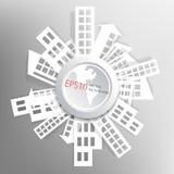 Abstracte achtergrond met document huizen stock illustratie