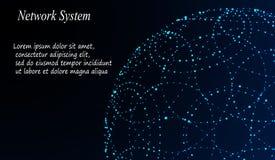 Abstracte Achtergrond met Dots Array en Lijnen Verbindingsstructuur Stock Afbeelding