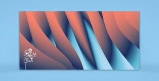 Abstracte achtergrond met dynamisch effect Optische illusie van vervorming van ruimte Modern patroon 3d vectorillustratie voor royalty-vrije illustratie