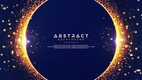 Abstracte achtergrond met een combinatie onduidelijk beeld bokeh gevolgen De abstracte Gloeiende achtergrond van de deeltjescirke vector illustratie