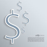 Abstracte achtergrond met een dollarteken Royalty-vrije Stock Afbeeldingen