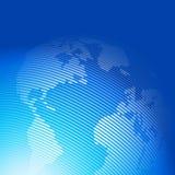 Abstracte achtergrond met een wereldkaart Royalty-vrije Stock Afbeeldingen