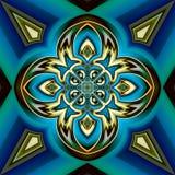 Abstracte achtergrond met een patroon in een centrale symmetrie vector illustratie
