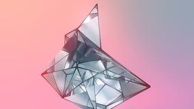 Abstracte achtergrond met futuristische geometrische oppervlakte het 3d teruggeven royalty-vrije illustratie