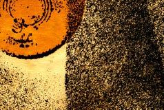 Abstracte achtergrond met gedeeltelijke oranje cirkel stock illustratie