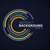 Abstracte achtergrond met gekleurde cirkels op een donkere achtergrond Stock Afbeelding