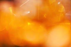 Abstracte achtergrond met gele lichte vlekken Stock Afbeeldingen