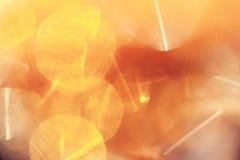Abstracte achtergrond met gele lichte vlekken met zonneschijn Royalty-vrije Stock Foto