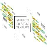 Abstracte achtergrond met geometrisch ontwerp Stock Foto