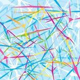 Abstracte achtergrond met geometrische voorwerpen Stock Foto