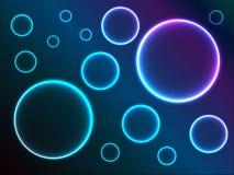 Abstracte achtergrond met glanzende cirkels Royalty-vrije Stock Foto's