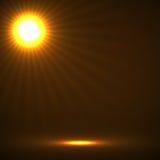 Abstracte achtergrond met gloeiende zonstralen Royalty-vrije Stock Afbeeldingen