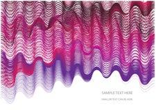 Abstracte achtergrond met golven vector illustratie