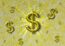 Abstracte achtergrond met een dollarteken Royalty-vrije Stock Fotografie