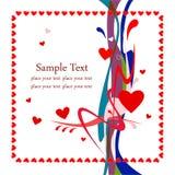 Abstracte achtergrond met hart Royalty-vrije Stock Foto's
